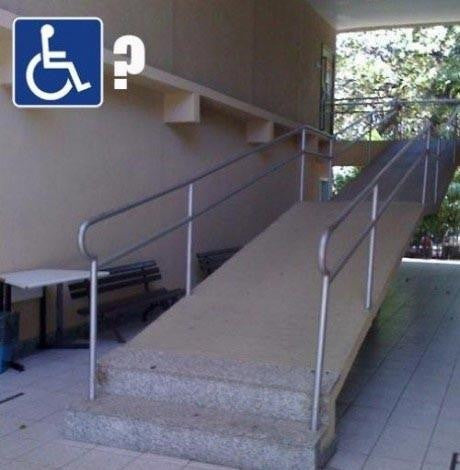 wheelchair ramp blocked