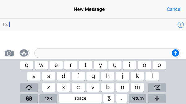 QWERTY Keyboard on iOS