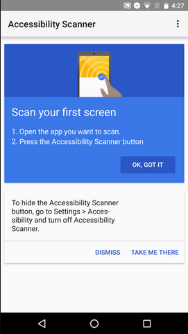 Google Accessibility Scanner Screenshot