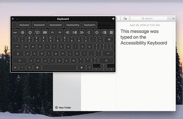 Accessibility keyboard screenshot on Mac desktop