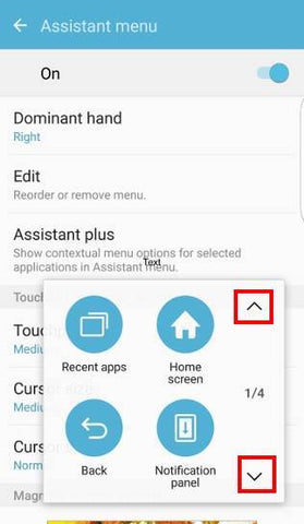 Assistant menu screenshot android