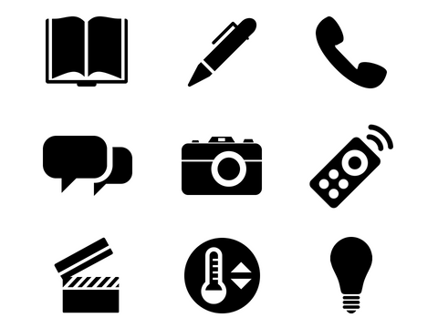 device and communication icons