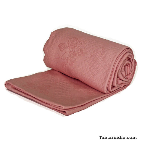 Luxury Cotton Blanket Pink