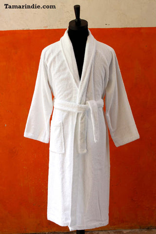 Men's White Bathrobe
