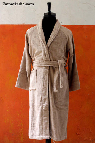 Men's Beige Bathrobe