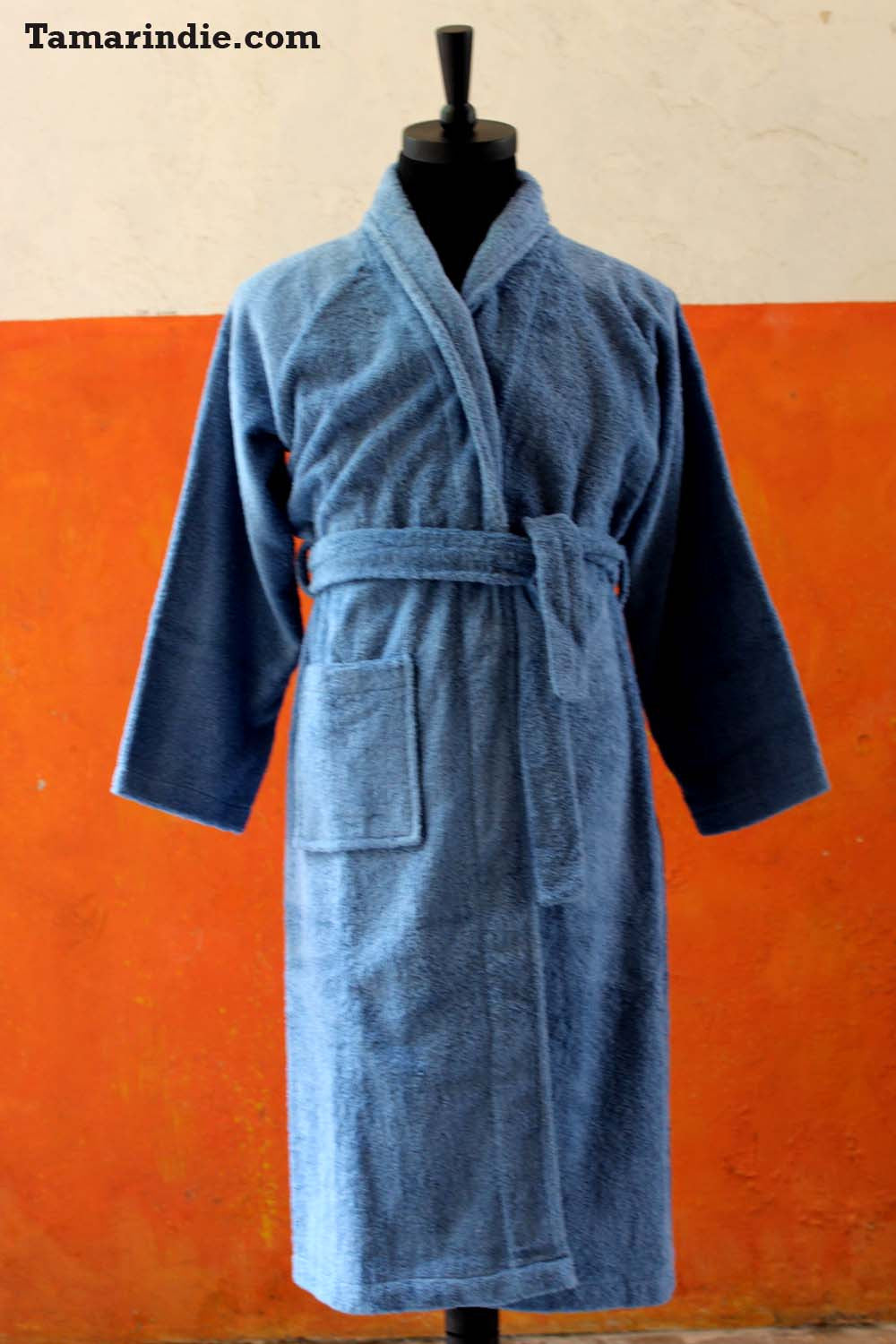 Men's Blue Bathrobe