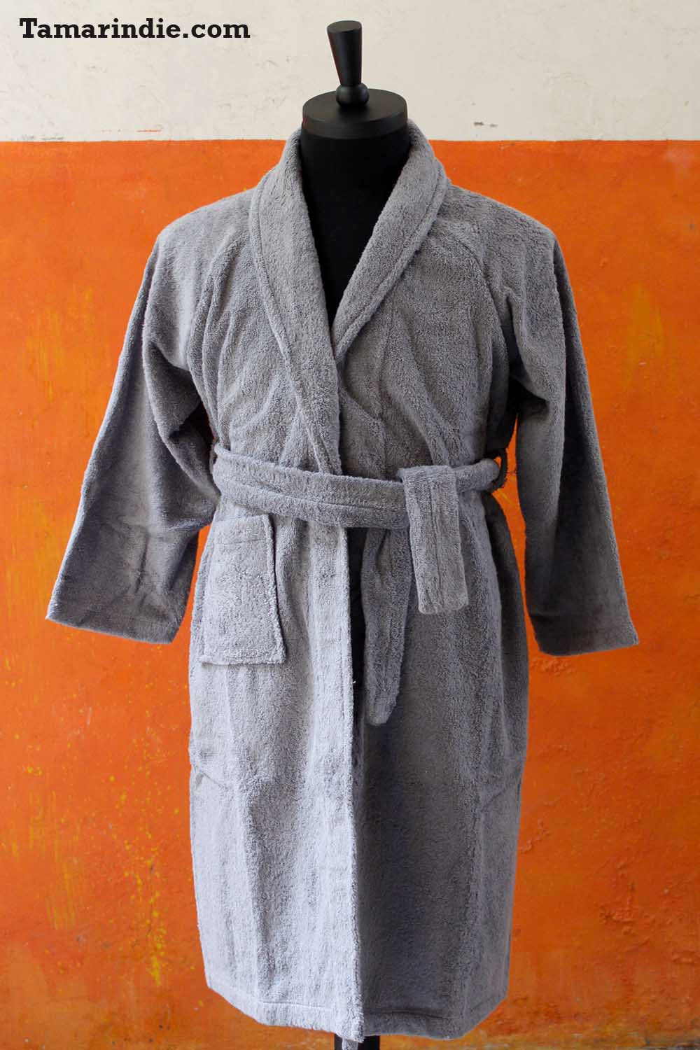 Men's Grey Bathrobe