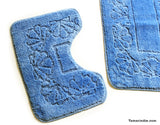 Light Blue Bath  Mat Sets|سجاد حمام ازرق فاتح