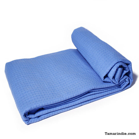 Blue Cotton Blanket|بطانية قطن زرقاء
