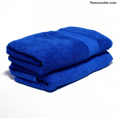 Set of Two Dark Blue Hand Towels|منشفتي يدّ لون أزرق