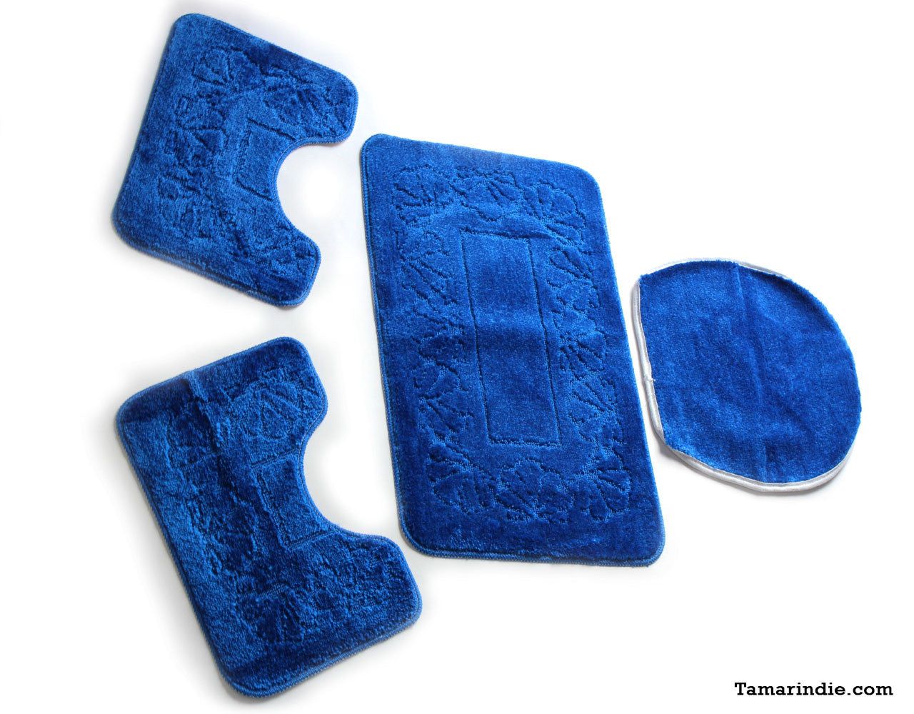 Dark Blue Bath  Mat Sets|سجاد حمام ازرق داكن