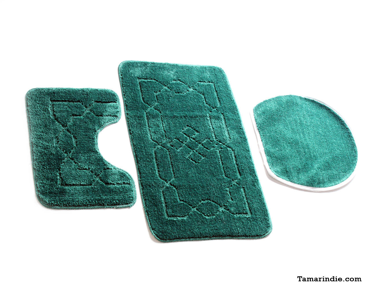 Dark Green Bath  Mat Sets|سجاد حمام اخضر داكن