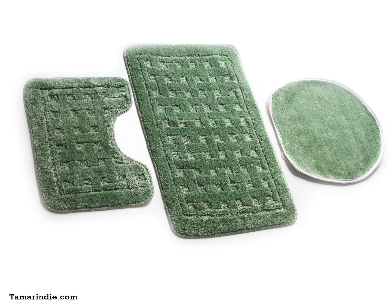 Light Green Bath  Mat Sets|سجاد حمام اخضر فاتح