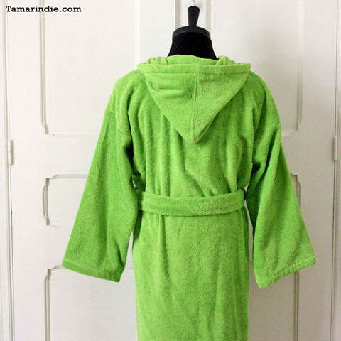 ... Thick Green Hooded Bathrobe for Grownups or Kids 40a251490