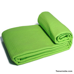 Green Cotton Blanket|بطانية قطن خضراء
