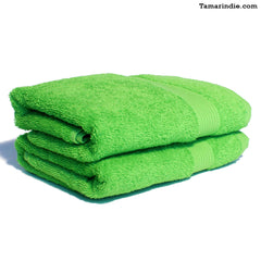 Set of Two Green Hand Towels|منشفتي يدّ لون أخضر