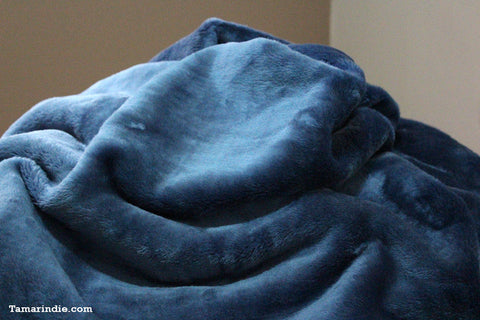 Oil Blue Single Winter Blanket|بطانية منفردة للشتاء