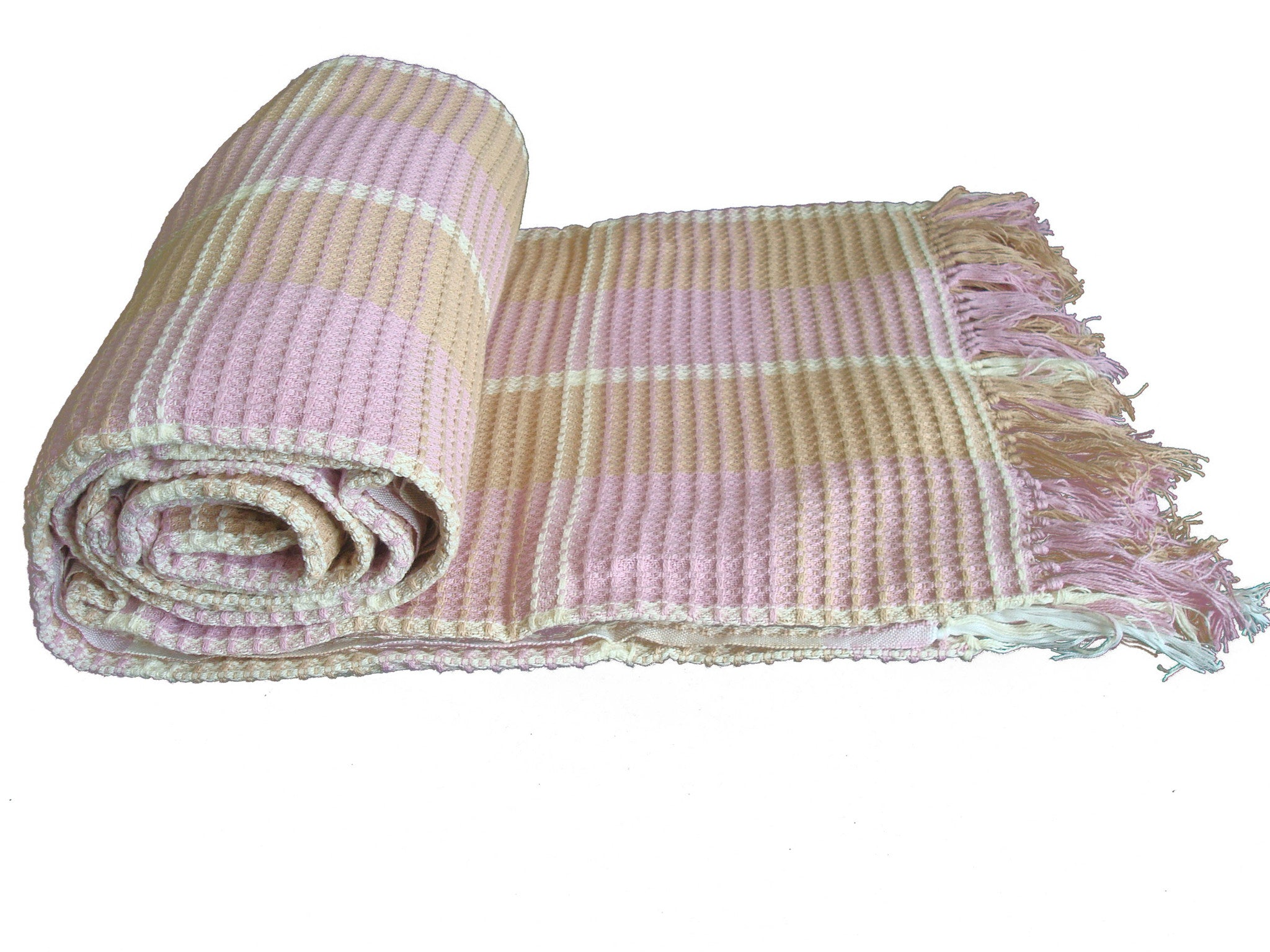 Light Pink Single Blanket|غطاء سرير مفرد قطنيزهري
