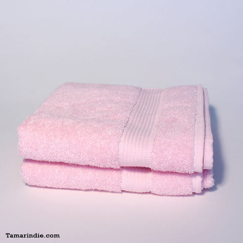 Set of Two Light Pink Hand Towels|منشفتي يدّ لون وردي فاتح