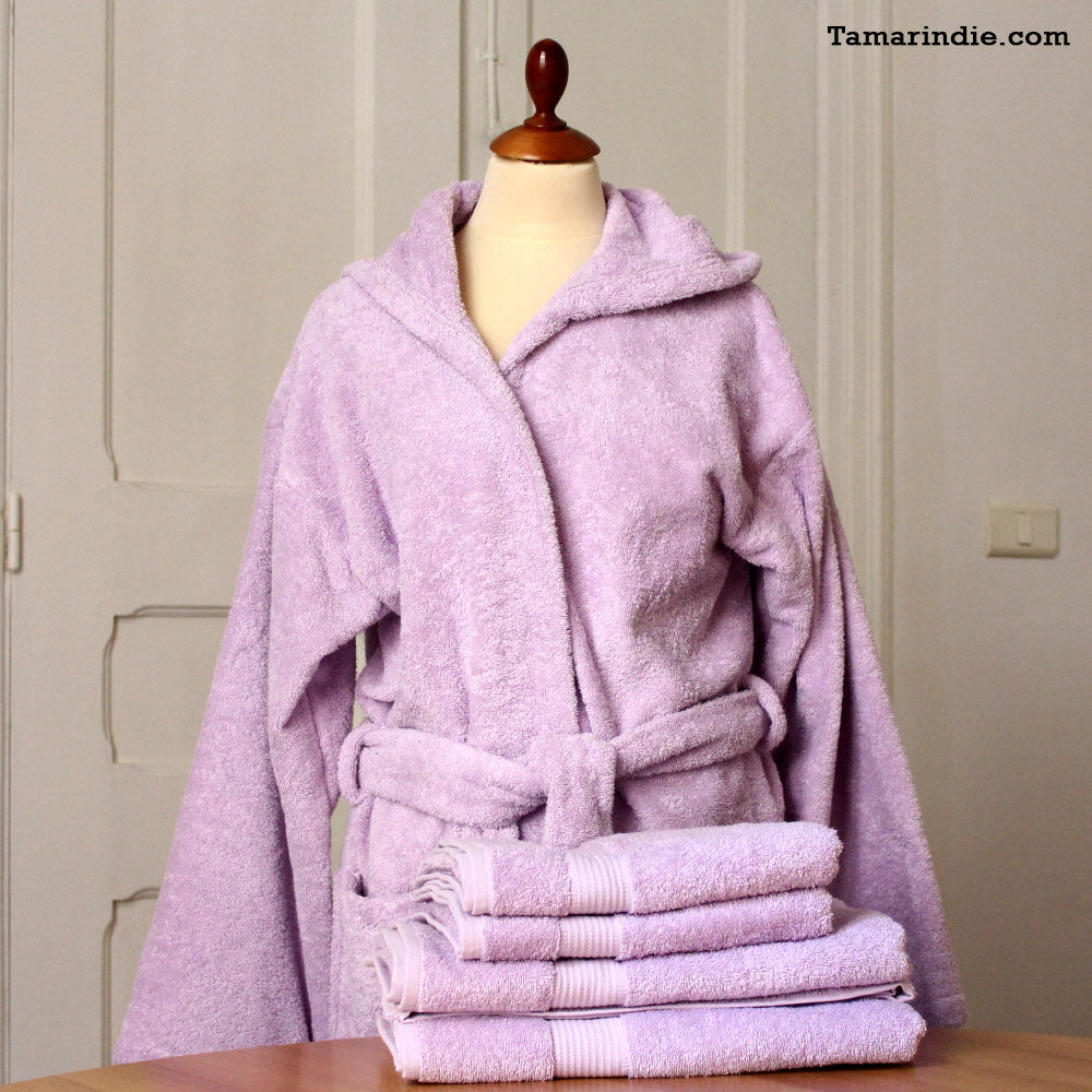 Thick Purple Hooded Bathrobe for Grownups or Kids ... 4ade8b801