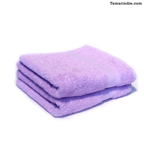 Set of Two Lilac Hand Towels|منشفتي يدّ لون بنفسجي