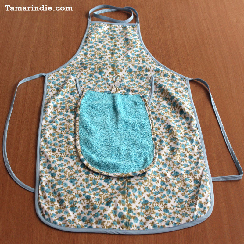 Turquoise Kitchen Apron with Detachable Towel|مريول مطبخ لون فيروزي مع منشفة متحركة
