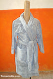 Grey winter robe or dressing gown
