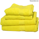 Set of Two Large Yellow Towels|منشفتان كبيرتان لونهما أصفر