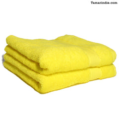 Set of Two Yellow Hand Towels|منشفتي يدّ لون أصفر