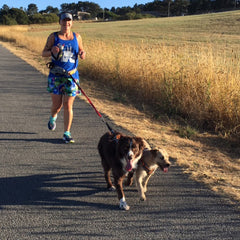 Patti running with her pups.