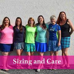 SparkleSkirts Sizing and Care