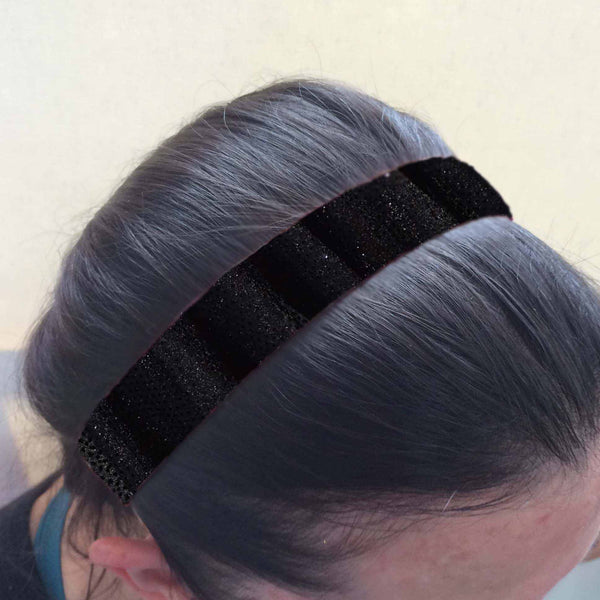Satin Black Headband
