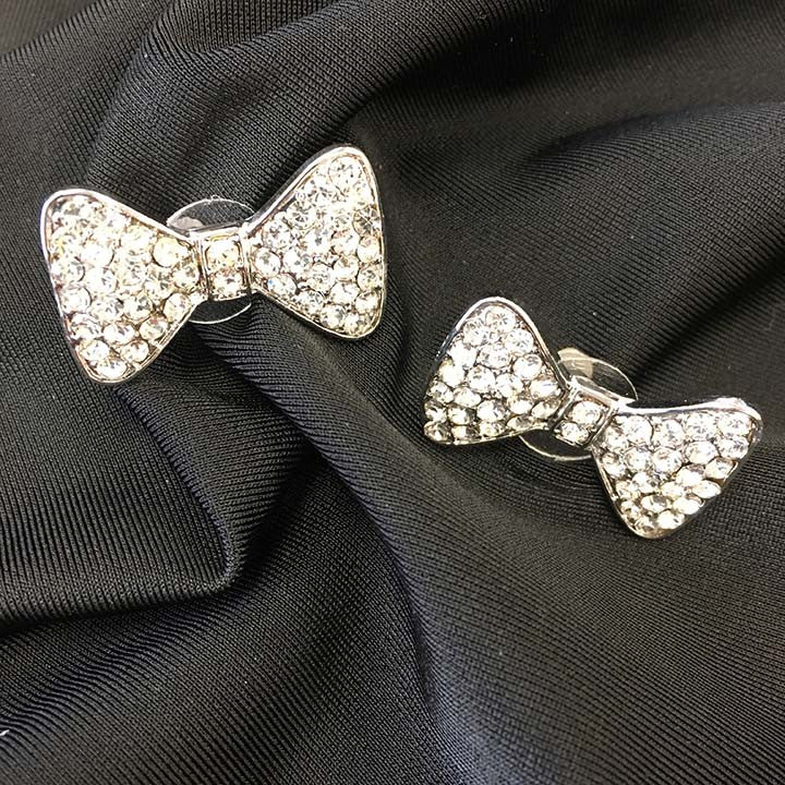 Sparkly Bow Earrings