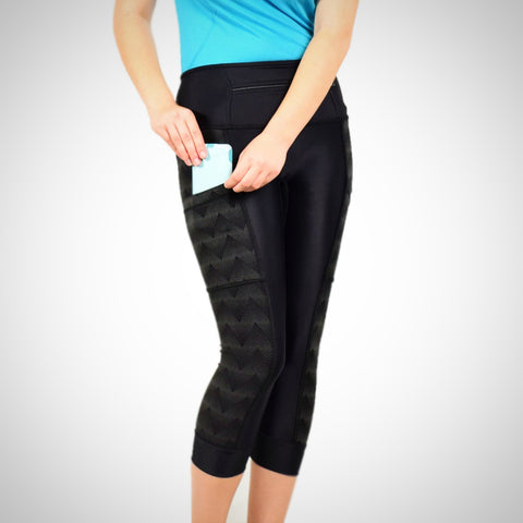 Reflective Black CapriPants 2.1