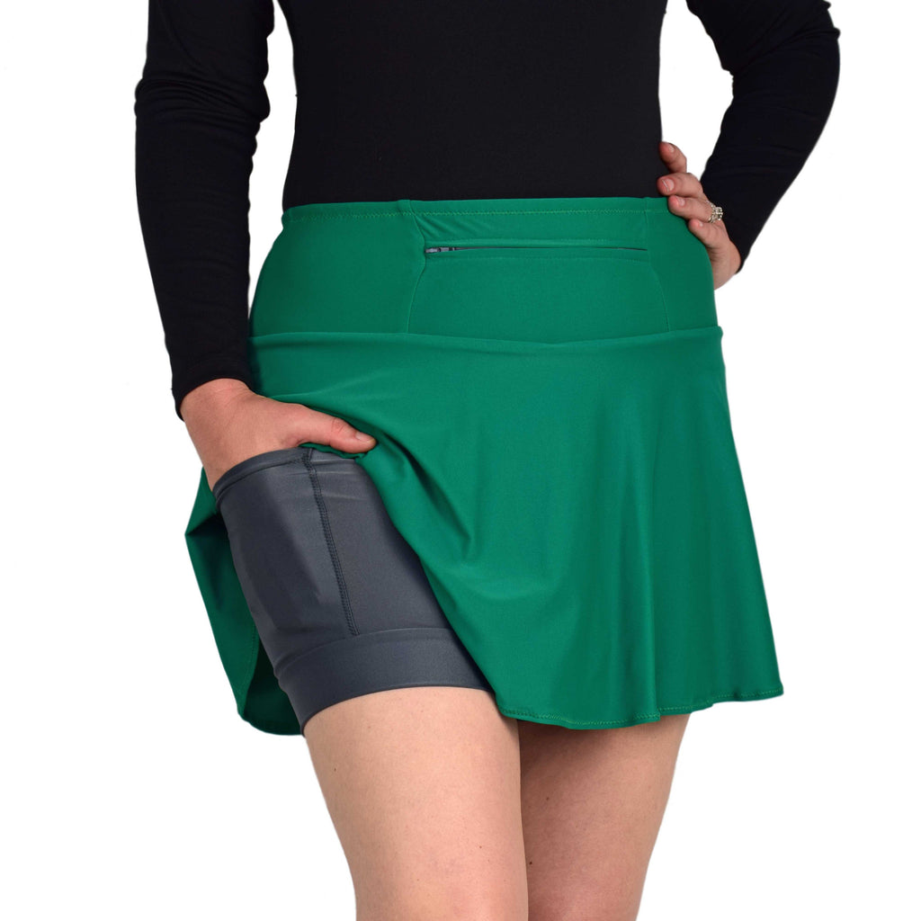 SparkleSkirts EnchantedGreen SwingStyle Athletic Skirt