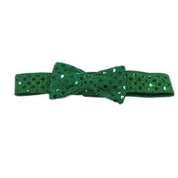 Mermaid Green SparkleLight Headband with Bow
