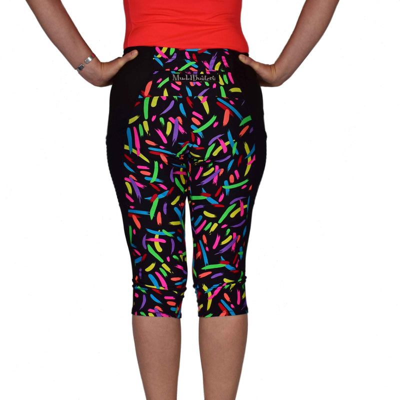 18f55b842b3b0 Bright Colored Running Capris with Pockets, Made in the USA ...