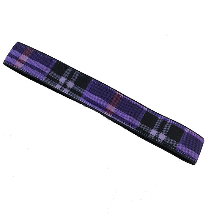 PurplePlaid Headband