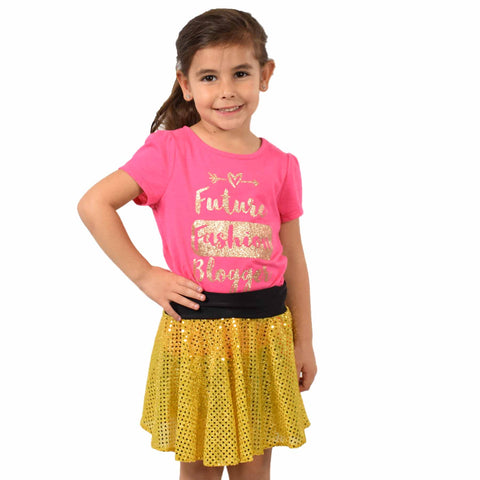 Bella Yellow LittleGirl's TwinkleSkirt