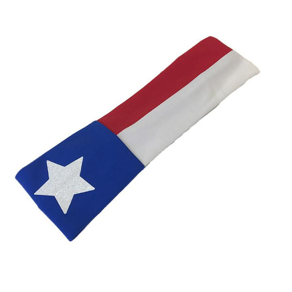 Texas Flag Wide Headband