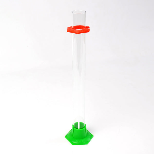 Glass hydrometer test jar