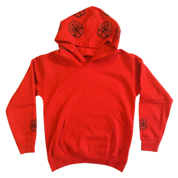 Brain Logo Hood - Youth Hoodie - Fire Red