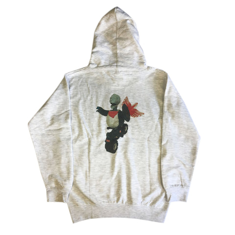 Dracula Toy Hack - Youth Hoodie - Ash
