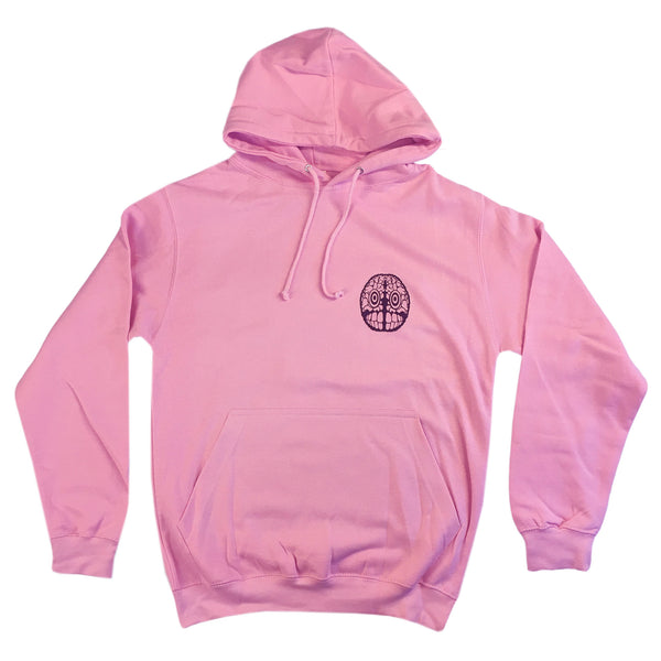 Flying Fists - Adult Hoodie - Baby Pink
