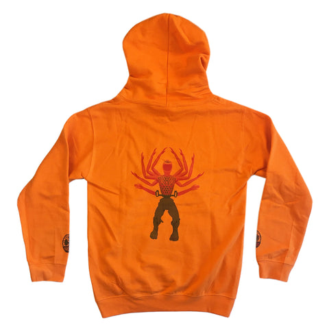 Hulk and Handy - Youth Hoodie - Orange Crush