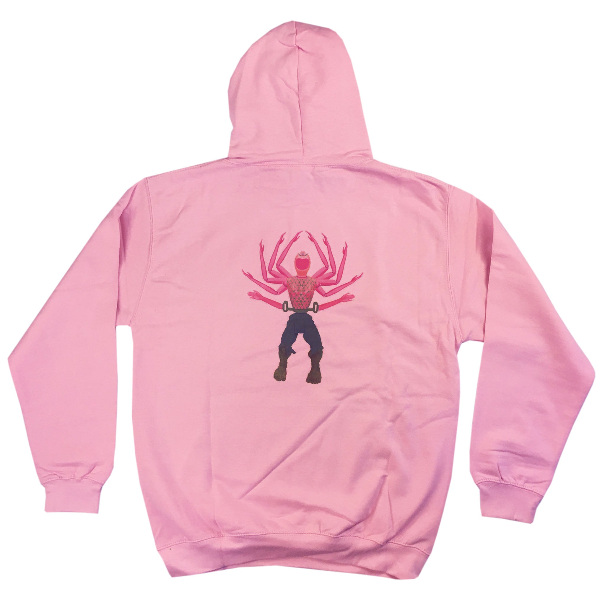 Hulk and Handy - Adult Hoodie - Baby Pink