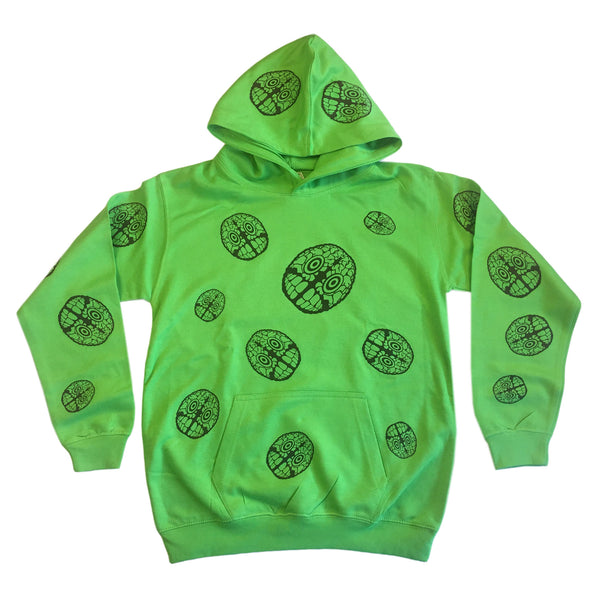 Brain Logo AP - Youth Hoodie - Lime Green