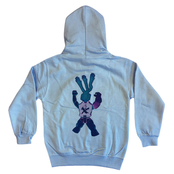 X-Hands - Youth Hoodie - Sky Blue