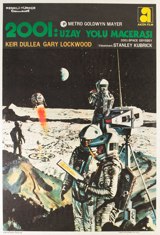 2001: A Space Odyssey 1968 Turkish 1 Sheet Film Poster, McCall