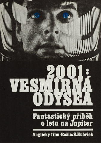 2001: A Space Odyssey original 1970 Czech A3 film movie poster